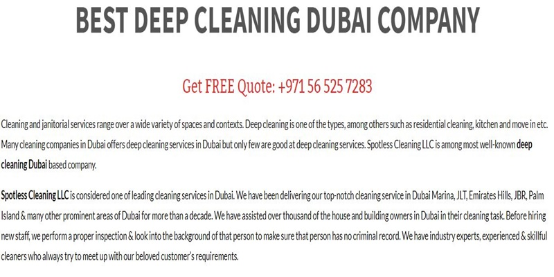 Who Is Best carpet cleaning company in Dubai