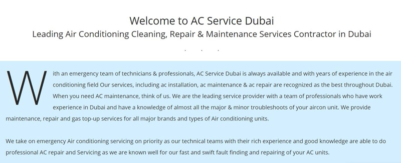 Air conditioning Cleaning and Repair Companies in dubai