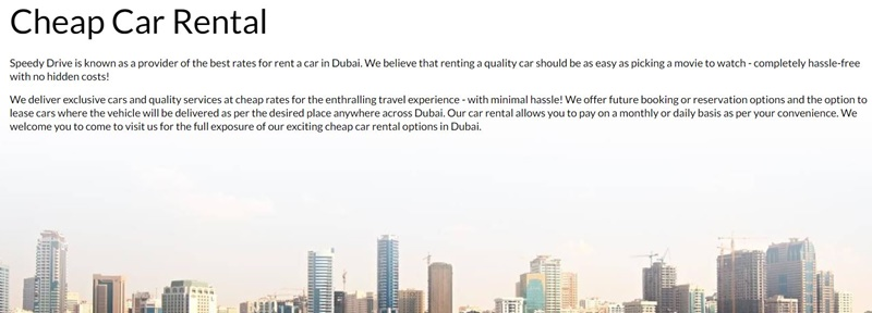 How much does it cost to hire a driver in Dubai