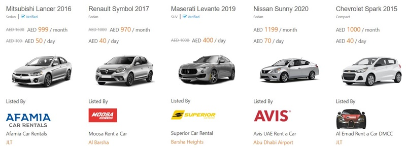 How much does it cost to rent a car in Dubai