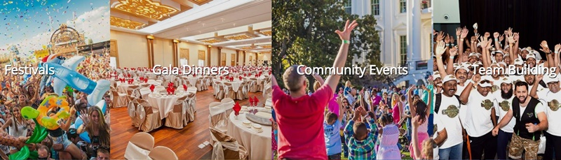 What are the different functions of event management companies in Dubai