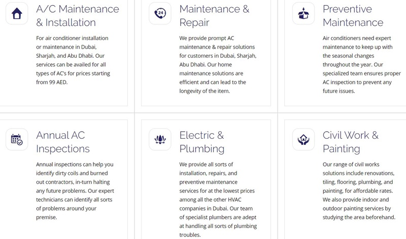 dubai Air conditioning Cleaning and Repair Companiesc review