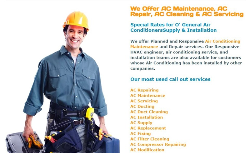 which Air conditioning Cleaning and Repair Companies are best in dubai